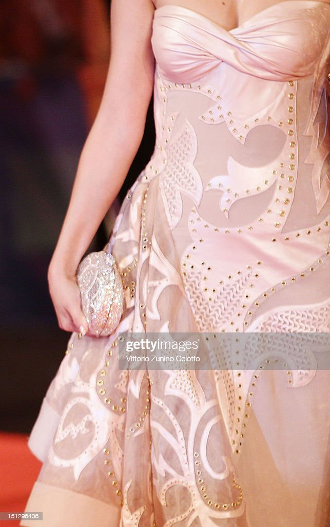 Actress Selena Gomez (Handbag Detail) attends the 'Spring Breakers' Premiere during The 69th Venice Film Festival at the Palazzo del Cinema on September 5, 2012 in Venice, Italy