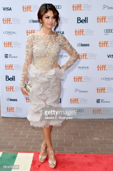 Actress Selena Gomez attends the'Spring Breakers' premiere during the 2012 Toronto International Film Festival at Ryerson Theatre on September 7 2012...