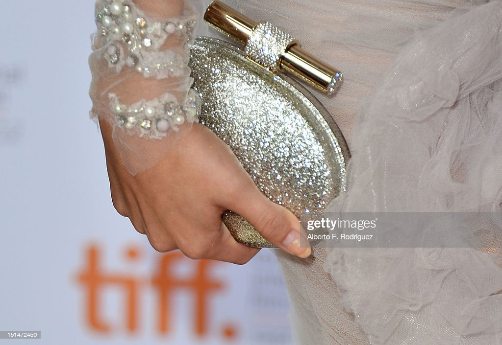 Actress Selena Gomez (accessory detail) attends the'Spring Breakers' premiere during the 2012 Toronto International Film Festival at Ryerson Theatre on September 7, 2012 in Toronto, Canada.