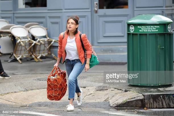 Actress Selena Gomez is seen on September 19 2017 on the set of 'Wasp 09' in New York City