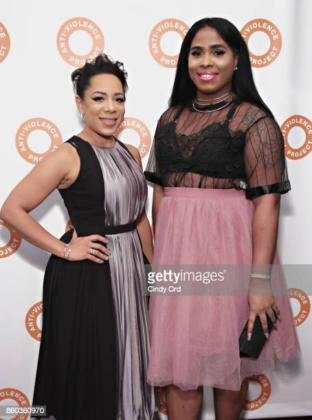 Actress Selenis Leyva and sister Marizol Leyva attend the 2017 AntiViolence Project Courage Awards at Pier 59 on October 11 2017 in New York City