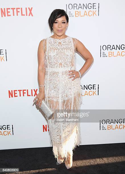 Actress Selenis Leyva attends 'Orange Is The New Black' New York City Premiere at SVA Theater on June 16 2016 in New York City