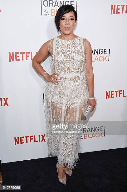 Actress Selenis Leyva attends 'Orange Is The New Black' premiere at SVA Theater on June 16 2016 in New York City