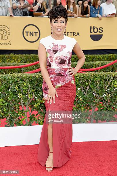 Actress Selenis Leyva attends the 21st Annual Screen Actors Guild Awards at The Shrine Auditorium on January 25 2015 in Los Angeles California