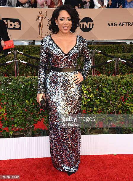 Actress Selenis Leyva attends the 22nd Annual Screen Actors Guild Awards at The Shrine Auditorium on January 30 2016 in Los Angeles California