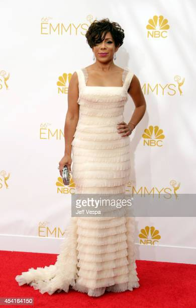 Actress Selenis Leyva attends the 66th Annual Primetime Emmy Awards held at Nokia Theatre LA Live on August 25 2014 in Los Angeles California