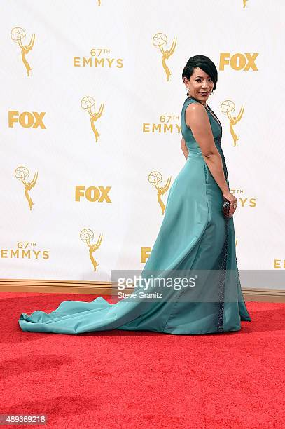 Actress Selenis Leyva attends the 67th Annual Primetime Emmy Awards at Microsoft Theater on September 20 2015 in Los Angeles California