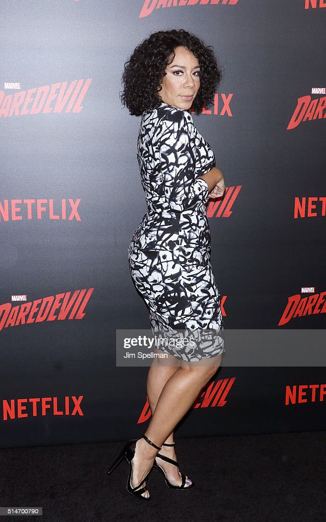 Actress Selenis Leyva attends the 'Daredevil' season 2 premiere at AMC Loews Lincoln Square 13 theater on March 10, 2016 in New York City.