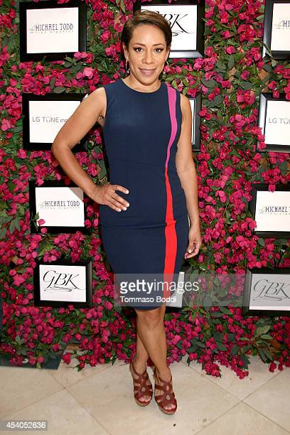 Actress Selenis Leyva attends the GBK Productions Luxury Lounge honoring the best in TV held at LErmitage on August 23 2014 in Beverly Hills...