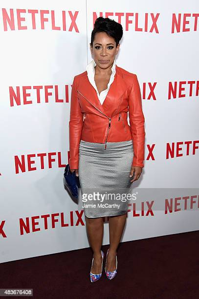 Actress Selenis Leyva attends the 'Orange Is The New Black' FYC screening at DGA Theater on August 11 2015 in New York City