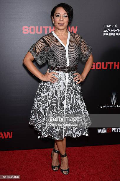 Actress Selenis Leyva attends the 'Southpaw' New York Premiere at AMC Loews Lincoln Square on July 20 2015 in New York City
