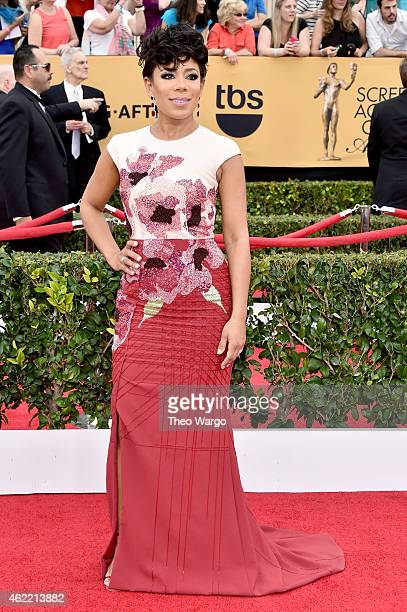 Actress Selenis Leyva attends TNT's 21st Annual Screen Actors Guild Awards at The Shrine Auditorium on January 25 2015 in Los Angeles California...