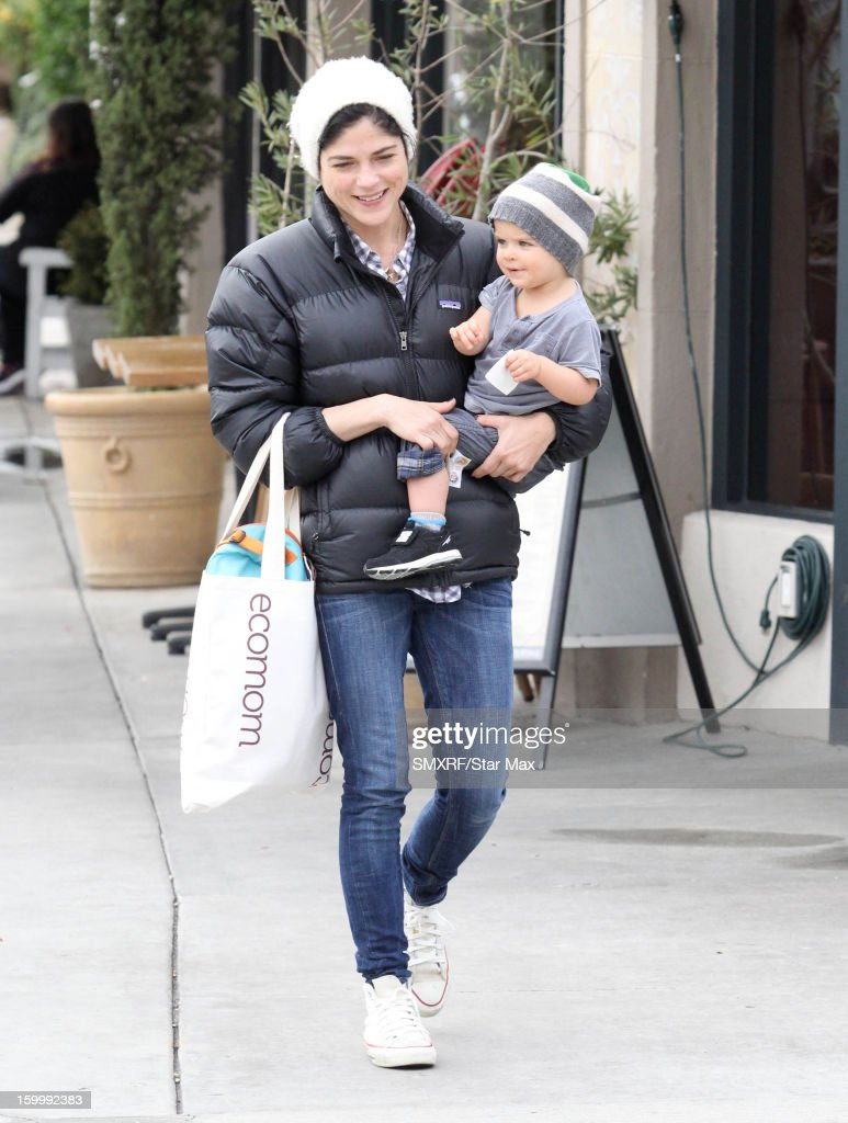 Actress <a gi-track='captionPersonalityLinkClicked' href=/galleries/search?phrase=Selma+Blair&family=editorial&specificpeople=171869 ng-click='$event.stopPropagation()'>Selma Blair</a> and Arthur Saint Bleick as seen on January 24, 2013 in Los Angeles, California.