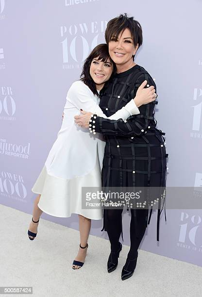 Actress Selma Blair and honoree Kris Jenner attend the 24th annual Women in Entertainment Breakfast hosted by The Hollywood Reporter at Milk Studios...