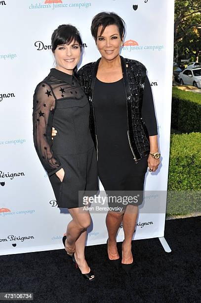Actress Selma Blair and tv personality Kris Jenner attend Children's Justice Campaign Event on May 12 2015 in Beverly Hills California