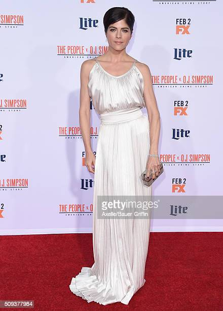 Actress Selma Blair arrives at the premiere of 'FX's 'American Crime Story The People V OJ Simpson' at Westwood Village Theatre on January 27 2016 in...
