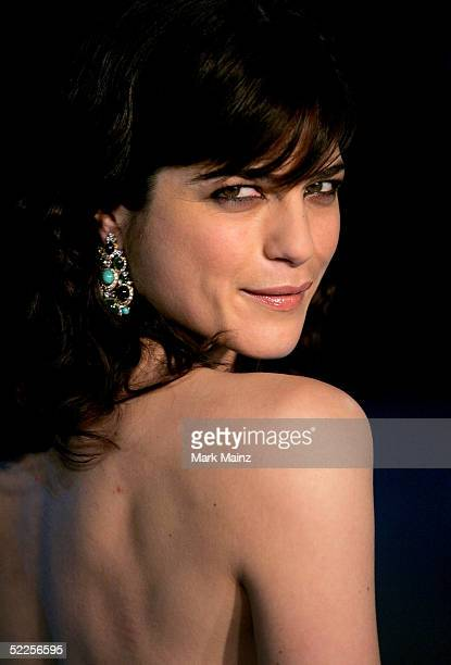 Actress Selma Blair arrives at the Vanity Fair Oscar Party at Mortons on February 27 2005 in West Hollywood California