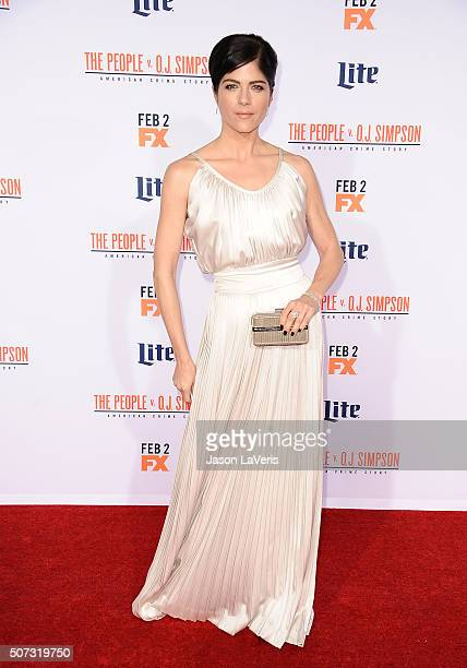 Actress Selma Blair attends the premiere of 'American Crime Story The People V OJ Simpson' at Westwood Village Theatre on January 27 2016 in Westwood...