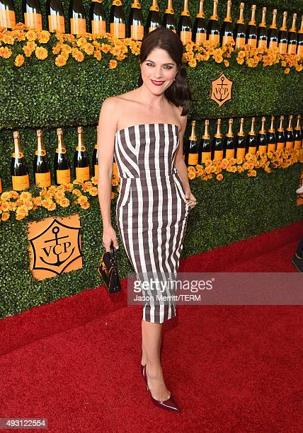 Actress Selma Blair attends the SixthAnnual Veuve Clicquot Polo Classic at Will Rogers State Historic Park on October 17 2015 in Pacific Palisades...