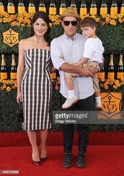 Actress Selma Blair Jason Bleick and son Arthur Saint Bleick arrive at the SixthAnnual Veuve Clicquot Polo Classic Los Angeles at Will Rogers State...