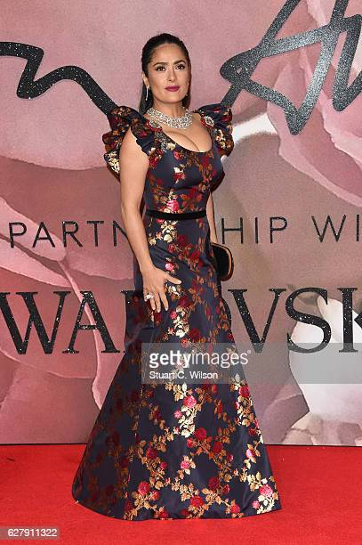Actress Selma Hayek attends The Fashion Awards 2016 on December 5 2016 in London United Kingdom