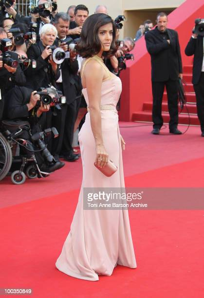 Actress Selma Hayek attends the Palme d'Or Closing Ceremony held at the Palais des Festivals during the 63rd Annual International Cannes Film...