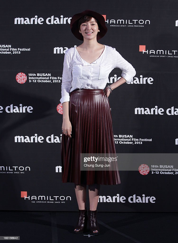 Actress Seo Eun-Chae arrives for the marie claire Asia Star Awards during the 18th Busan International Film Festival on October 5, 2013 in Busan, South Korea.