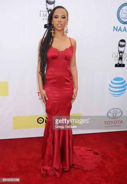 Actress Serayah arrives at the 48th NAACP Image Awards at Pasadena Civic Auditorium on February 11 2017 in Pasadena California