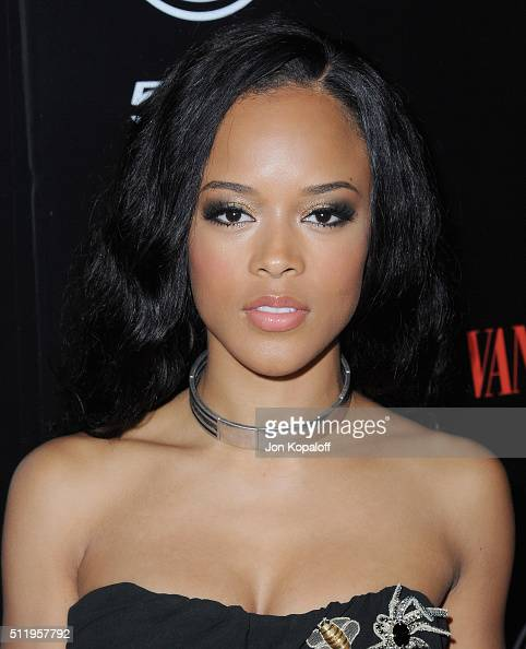 Actress Serayah arrives at Vanity Fair And FIAT Toast To 'Young Hollywood' at Chateau Marmont on February 23 2016 in Los Angeles California