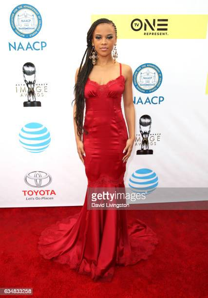 Actress Serayah attends the 48th NAACP Image Awards at Pasadena Civic Auditorium on February 11 2017 in Pasadena California