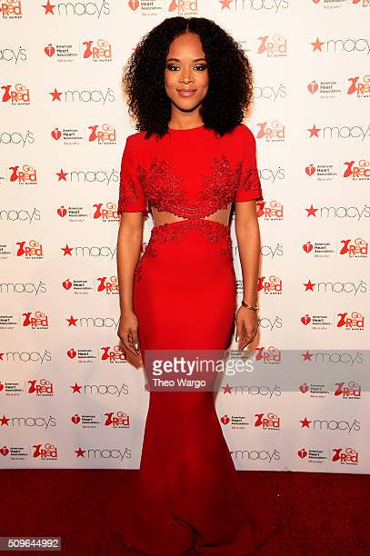 Actress Serayah attends The American Heart Association's Go Red For Women Red Dress Collection 2016 Presented By Macy's at The Arc Skylight at...