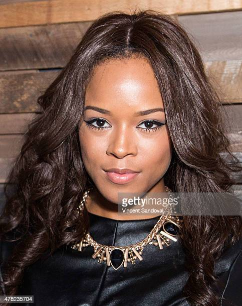 Actress Serayah attends the Justine Skye 'Emotionally Unavailable' record release party at HYDE Sunset Kitchen Cocktails on June 23 2015 in West...