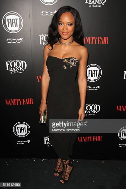 Actress Serayah attends Vanity Fair and FIAT Young Hollywood Celebration at Chateau Marmont on February 23 2016 in Los Angeles California