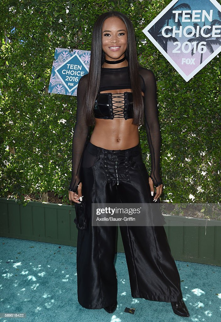 Actress Serayah McNeill arrives at the Teen Choice Awards 2016 at The Forum on July 31 2016 in Inglewood California