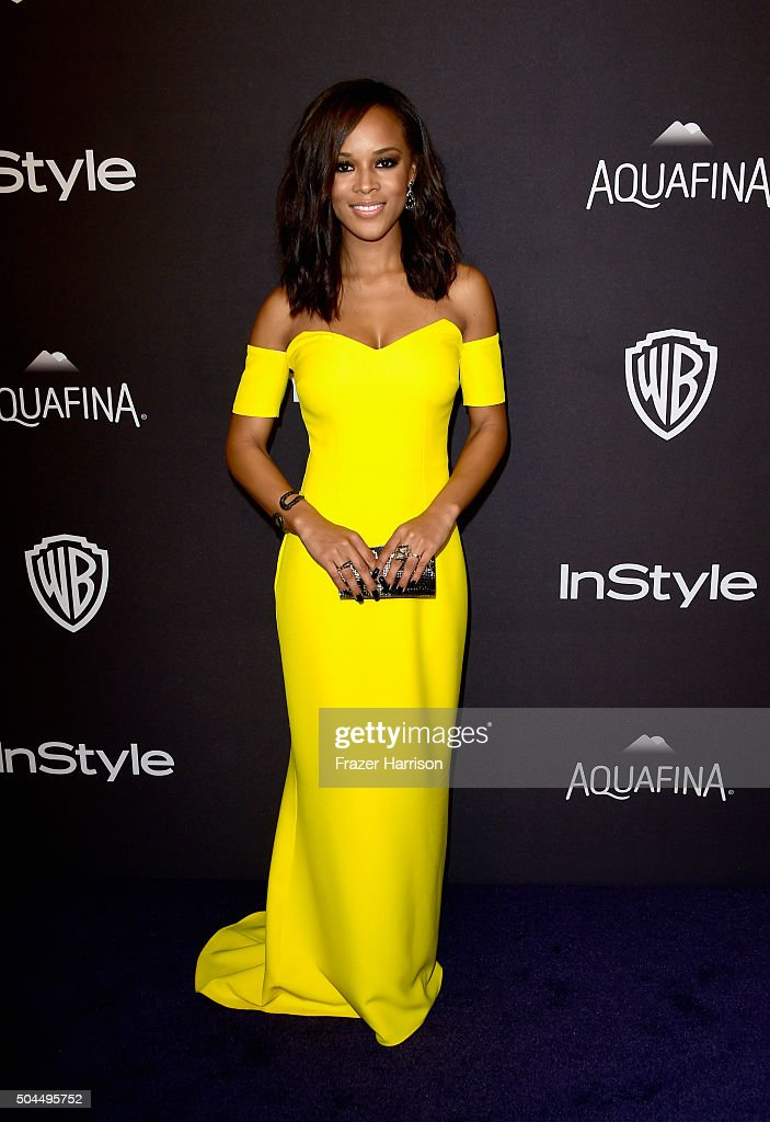 Actress Serayah McNeill attends InStyle and Warner Bros. 73rd Annual Golden Globe Awards Post-Party at The Beverly Hilton Hotel on January 10, 2016 in Beverly Hills, California.