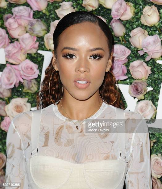 Actress Serayah McNeill attends Max Mara and Vanity Fair's celebration of Women In Film's Face of the Future Award recipient Zoey Deutch at Chateau...