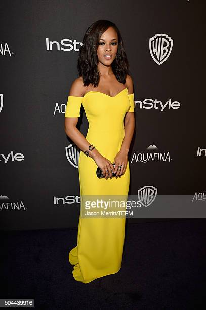 Actress Serayah McNeill attends The 2016 InStyle And Warner Bros 73rd Annual Golden Globe Awards PostParty at The Beverly Hilton Hotel on January 10...