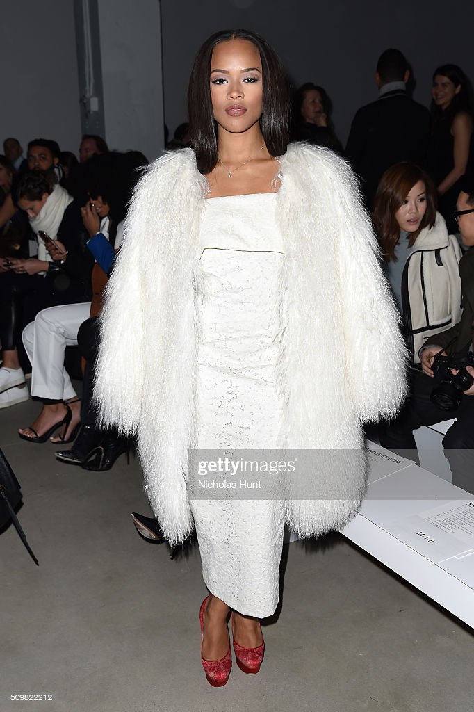 Actress Serayah Mcneill attends the Cushnie Et Ochs Fall 2016 fashion show during New York Fashion Week: The Shows at The Gallery, Skylight at Clarkson Sq on February 12, 2016 in New York City.