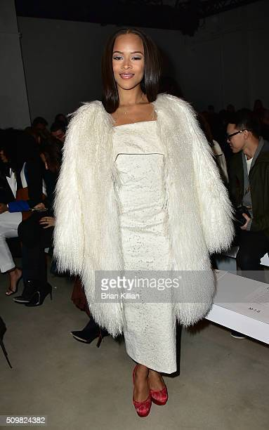 Actress Serayah McNeill attends the Cushnie et Ochs show during Fall 2016 New York Fashion Week The Shows at Skylight at Clarkson Sq on February 12...