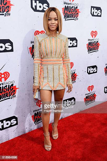 Actress Serayah McNeill attends the iHeartRadio Music Awards at The Forum on April 3 2016 in Inglewood California