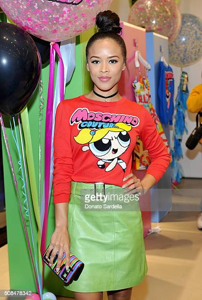 Actress Serayah McNeill attends The Powerpuff Girls x Moschino Launch Event at Moschino Store on February 4 2016 in West Hollywood California...