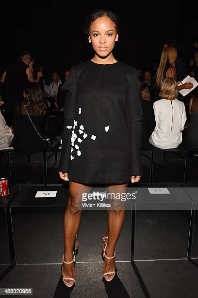Actress Serayah McNeill attends Vera Wang Spring 2016 during New York Fashion Week at Cedar Lake on September 15 2015 in New York City