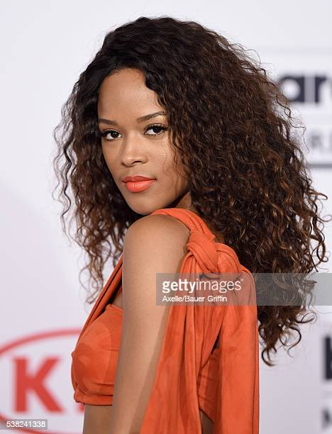 Actress Serayah McNeill poses in the press room at the 2016 Billboard Music Awards at TMobile Arena on May 22 2016 in Las Vegas Nevada