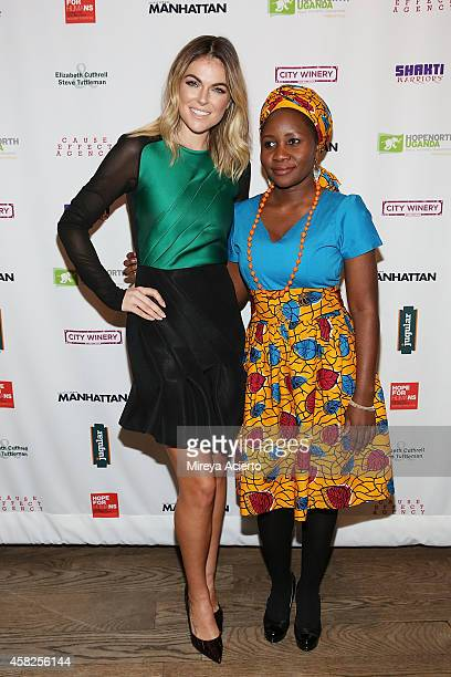Actress Serinda Swan and activist Beatrice Biira attend 2014 Hope North Benefit Gala at City Winery on November 1 2014 in New York City