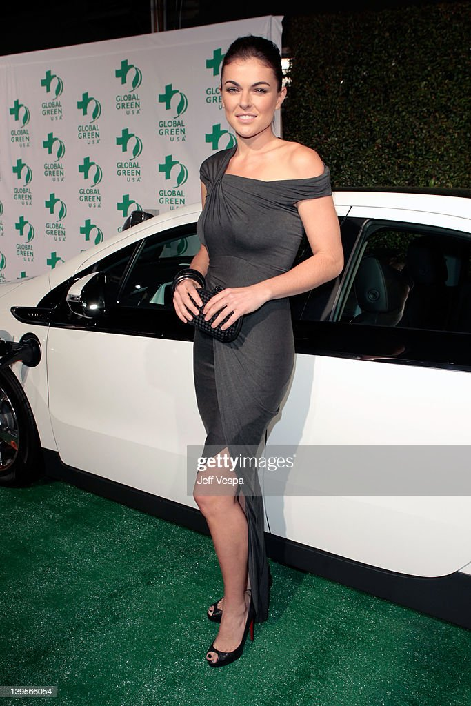 Actress Serinda Swan arrives at Global Green USA's 9th Annual PreOscar Party Supporting Green Schools and Green Communities at Avalon on February 22...