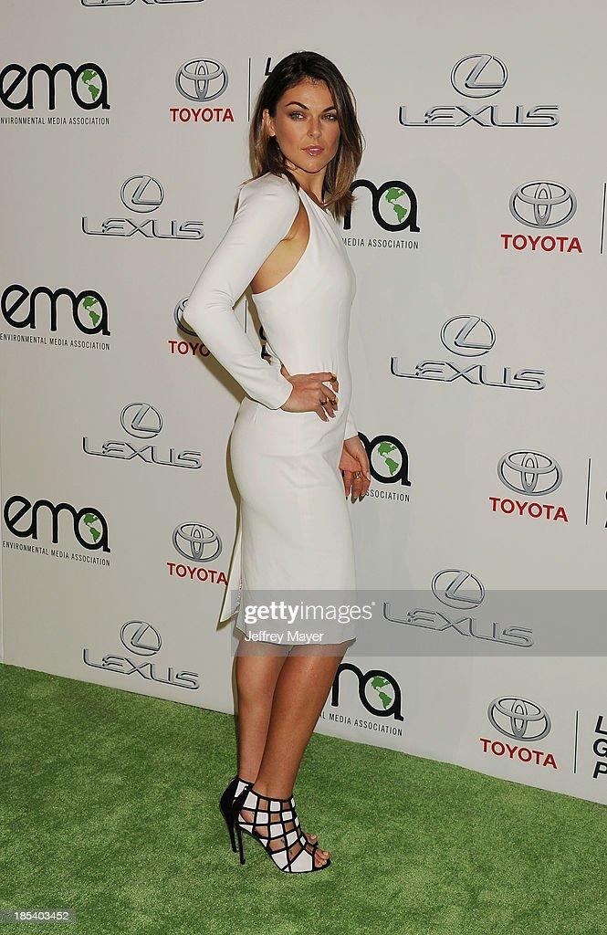 Actress Serinda Swan arrives at the 2013 Environmental Media Awards at Warner Bros. Studios on October 19, 2013 in Burbank, California.