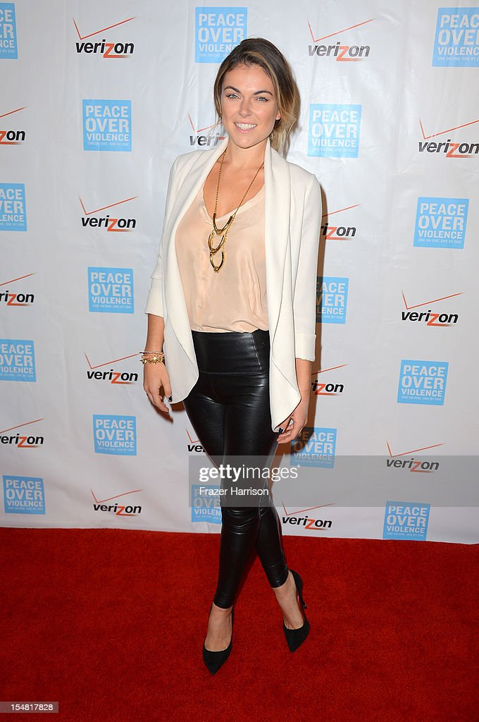 Actress Serinda Swan arrives at the 41st Annual Peace Over Violence Humanitarian Awards held at Beverly Hills Hotel on October 26, 2012 in Beverly Hills, California.