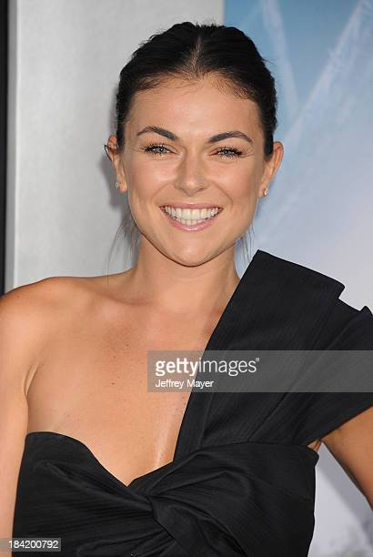Actress Serinda Swan arrives at the Los Angeles premiere of 'Elysium' at Regency Village Theatre on August 7 2013 in Westwood California