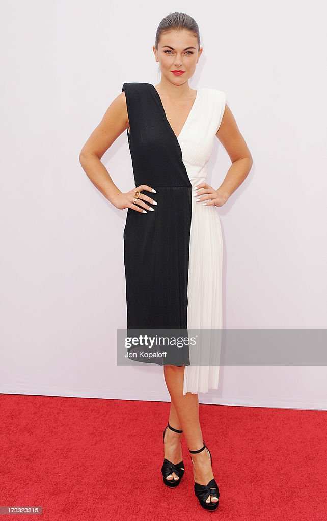 Actress Serinda Swan arrives at the Los Angeles Premiere 'Red 2' at Westwood Village on July 11, 2013 in Los Angeles, California.