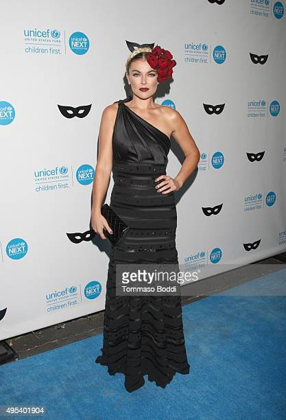 Actress Serinda Swan at the UNICEF Next Generation Third Annual UNICEF Black White Masquerade Ball benefiting UNICEF's lifesaving programs including...